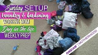 🏡Sunday Setup | DITL | Working Mom Laundry & Gardening🏡