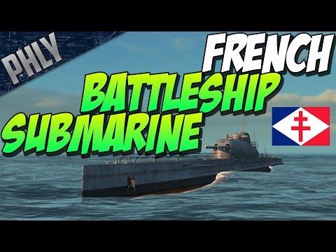 Steel Ocean Gameplay- SUBMARINE BATTLESHIP! French Surcouf!
