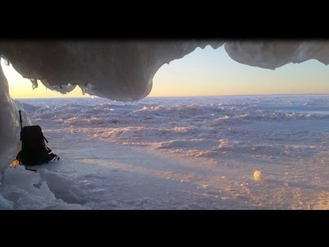 Ice Cave Camping at the Apostle Islands