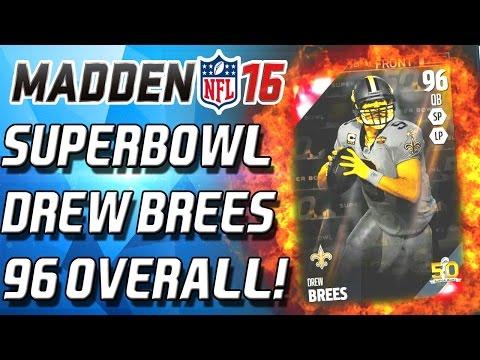 SUPERBOWL DREW BREEZUS! DERRICK BROOKS - Madden 16 Ultimate Team