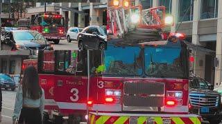 Chicago Fire Department Engine 42 Truck 3 Returning