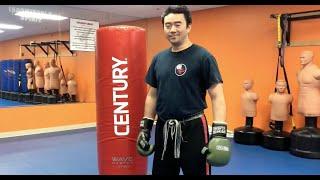 Freestanding bag workout 2mins.
