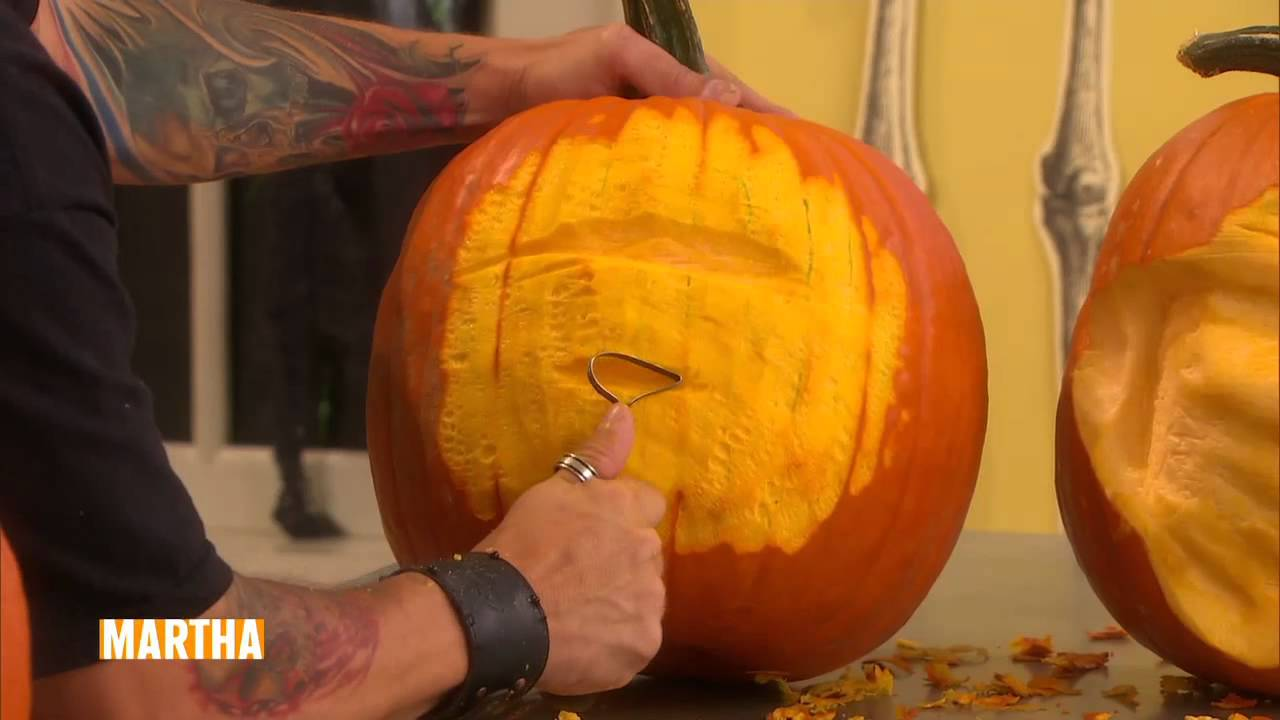 How to Carve Incredible Pumpkin Faces ⎢Ray Villafane⎢Martha ...