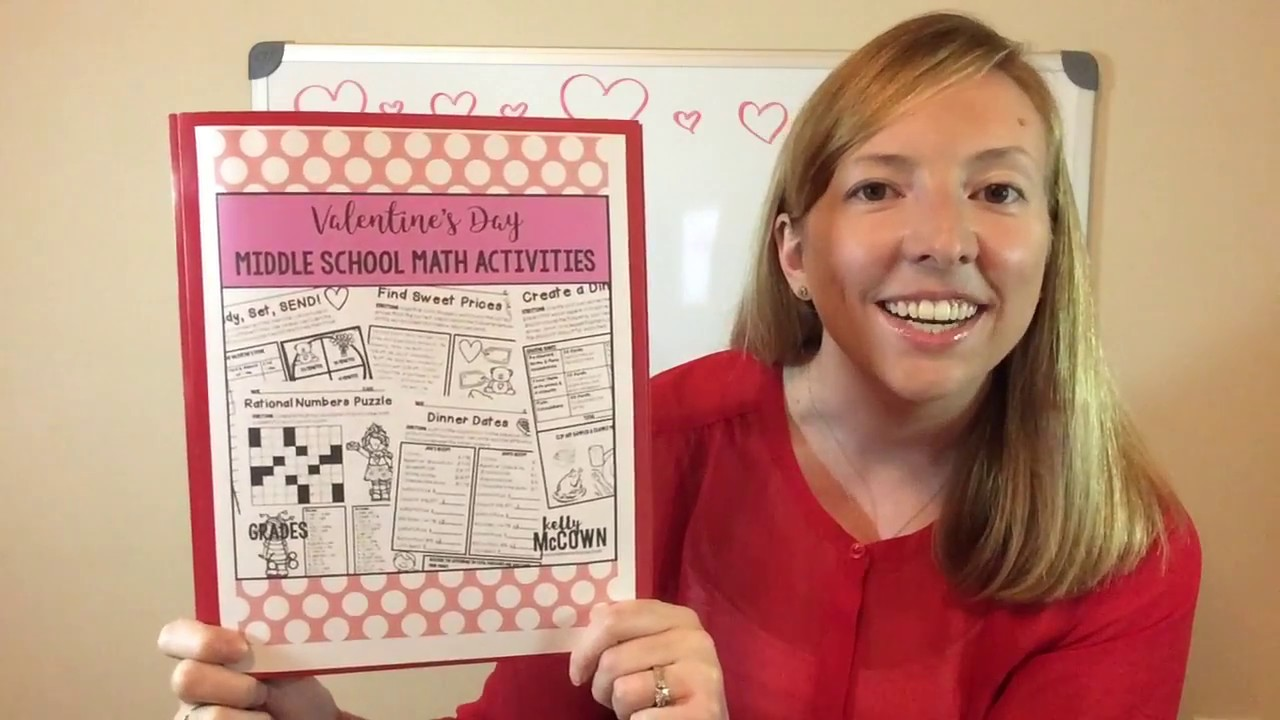 valentine 39 s day middle school math activities youtube. Black Bedroom Furniture Sets. Home Design Ideas