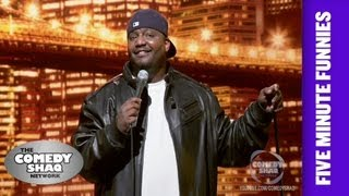 Aries Spears⎢Learn How to Speak F***ing English!⎢Shaq's Five Minute Funnies⎢Comedy Shaq