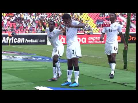 Asamoah Gyan Dance - Ghana vs Nigeria