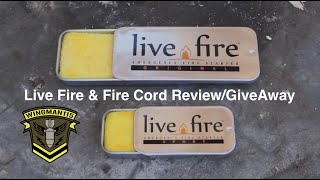 Live Fire - Fire Cord - Use Test and GiveAway