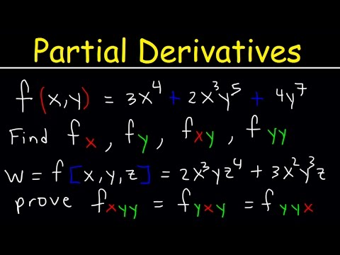 Partial Derivatives Product & Quotient Rule, Higher Order, First Second Third & Mixed, Calculus 3