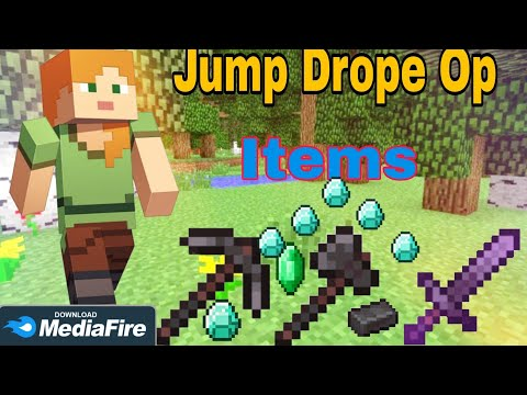 jumping drops op items mod download in minecraft bedrock edition
