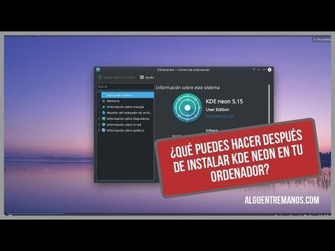 Pasos a seguir despues de instalar KDE Neon