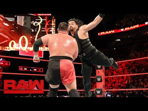 Roman Reigns vs. Samoa Joe - Intercontinental Championship Match: Raw, Jan. 1, 2018