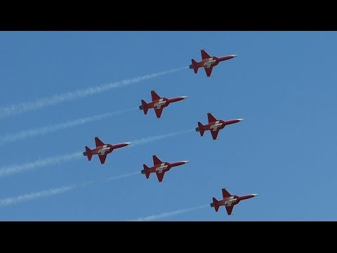Amazing Display of Patrouille Suisse at ILA 2014 Berlin Air Show