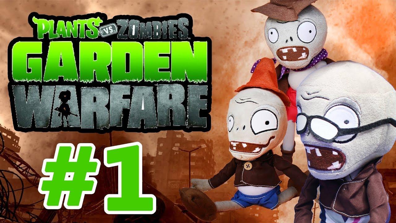 Plants Vs Zombies Plush Toys Garden Warfare Part 1 Moo Toy Story Youtube