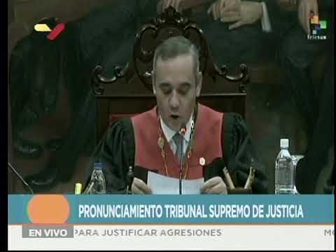TSJ de Venezuela rechaza amenazas de EEUU contra el Poder Judicial