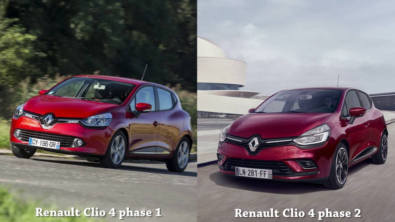 renault clio 4 phase 1 vs renault clio 4 phase 2 youtube. Black Bedroom Furniture Sets. Home Design Ideas