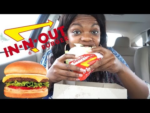 IN N OUT MUKBANG (SLOPPY EATING) | Talking about my Insecurities