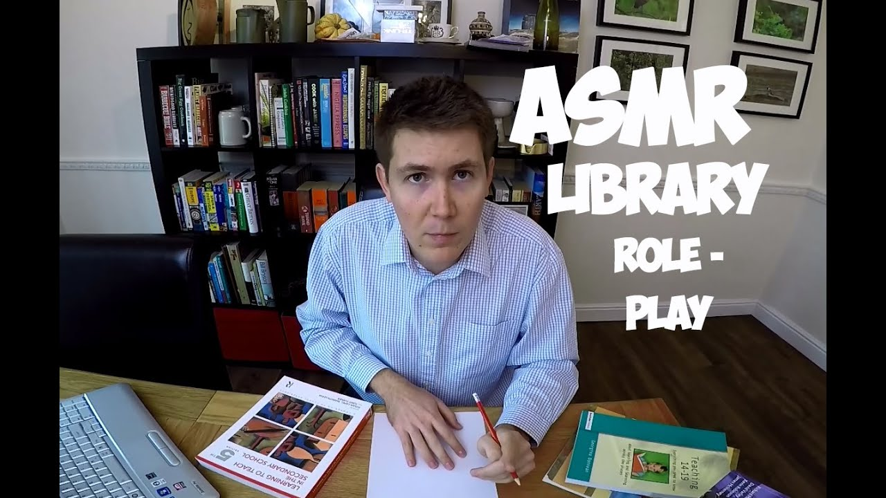 ASMR Librarian ✍ 3D Role Play | Whisper, Typing, Page Turning And Writing ✍  Library Page
