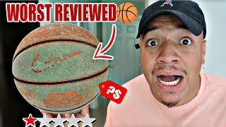 Ordering The WORST REVIEWED BASKETBALL In The World!! (Under 1 Star Rated) STEPH CURRY TESTED