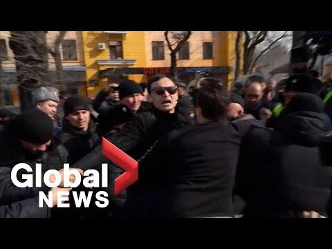 Kazakhstan Detains Dozens Of Anti-government Protesters