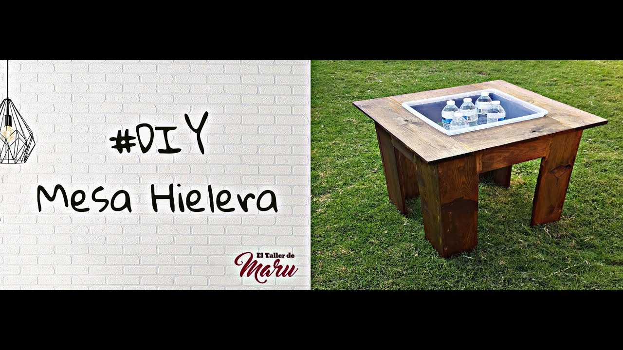 DIY Mesa Hielera - YouTube