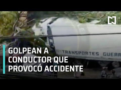 Golpean a conductor de tráiler que provocó accidente en Santa Fe - Las Noticias