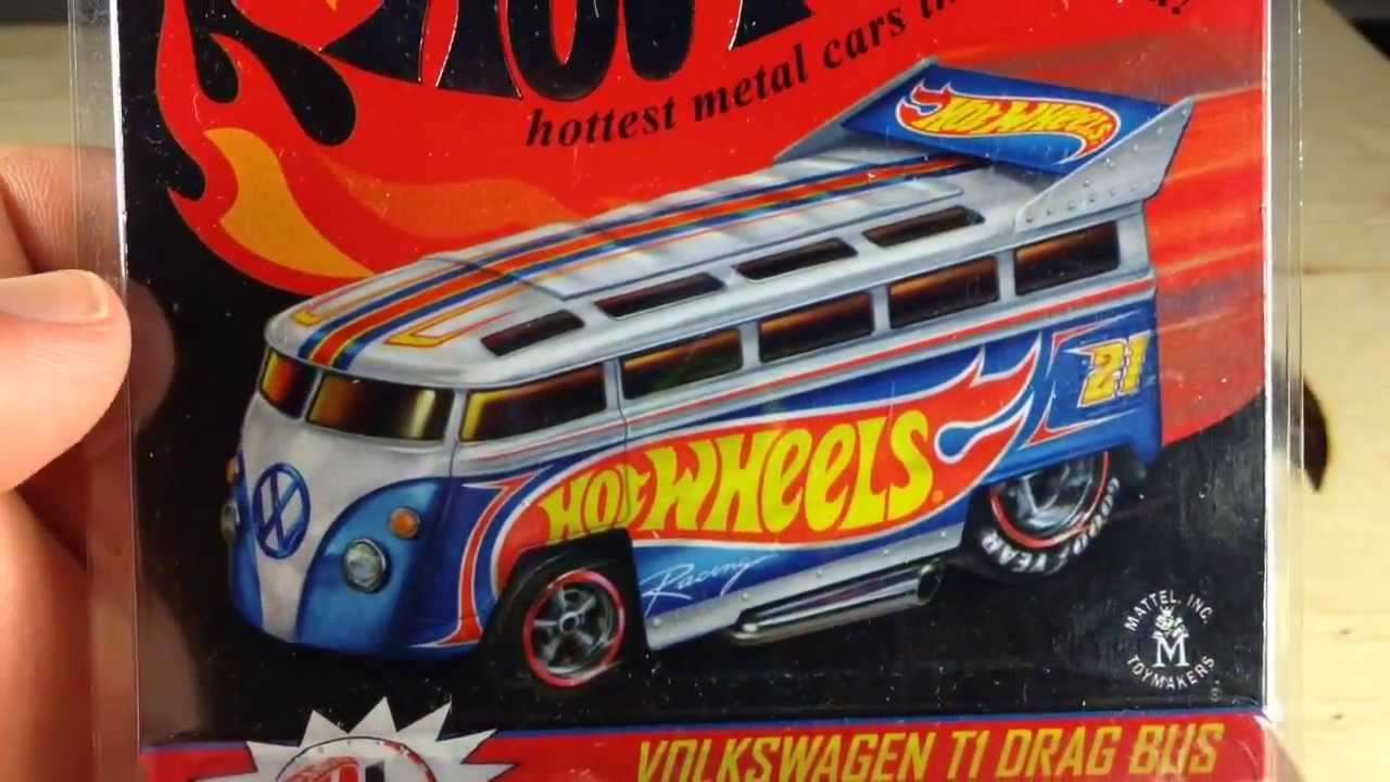 Hot Wheels 2013 Rlc Vw T1 Drag Bus Review Youtube