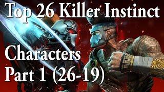 Top 26 Killer Instinct Characters Part 1 (26-19)
