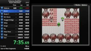Pokemon Red any% glitchless speedrun in 1:49:48
