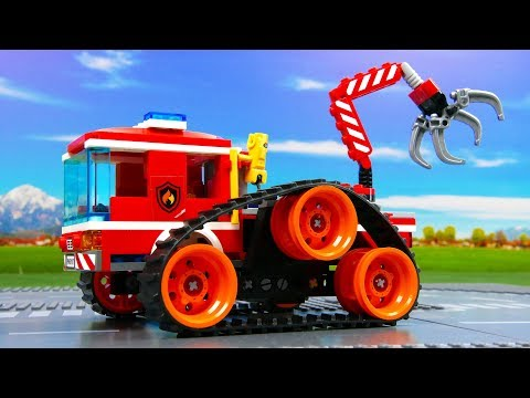 LEGO Experimental Fire Truck And Monster Truck . Toy Vehicles For Kids
