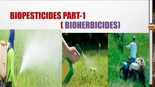 Biopesticides part-1, bioherbicides for medical pre exam explain in hindi