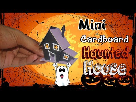 How to Make Cardboard  House | Haunted Mansion for Halloween | Tutorial Cardboard House for Kids