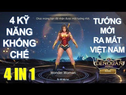 Tướng mới ra mắt: Nữ siêu anh hùng WONDER WOMAN khống chế tốt miễn thương cao [ Mua và test]