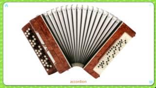 Карточки Домана  .Изучаем английский язык .Музыкальные инструменты .Musical instrument