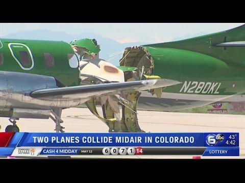 2 planes collide above Denver, land with no one injured