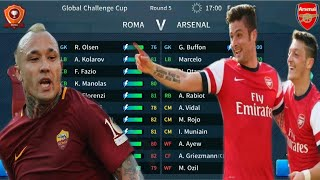 Dream League Soccer 2019 | Arsenal vs Roma Global Challenge Cup | Android Gameplay #2