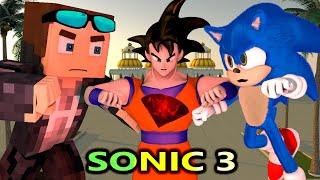 SONIC THE HEDGEHOG MOVIE IN MINECRAFT 3! Ft. Goku & Baldi (Official) Minecraft Animation Series