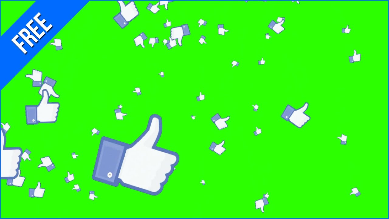 Likes Animados #1 - Animated Likes #1 / Green Screen ...