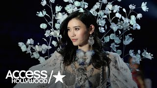 Model Ming Xi Fell At The Victoria's Secret Fashion Show But Recovered Like A Pro | Access Hollywood