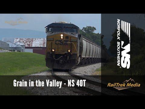 NS Grain Train 40T: Elkton to Harrisonburg with CSX Power!
