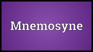 Mnemosyne Meaning