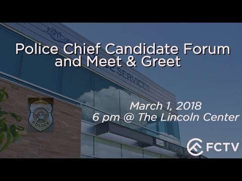 Police Chief Candidates Forum and Meet & Greet - LIVE STREAM