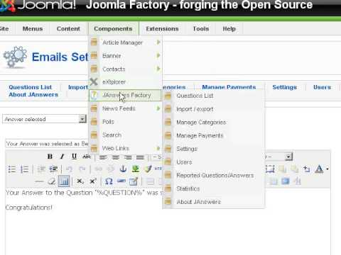 JAnswers Factory - Yahoo Answers Clone Script For Joomla - Administration Tutorial