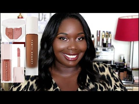 Fenty Beauty By Rihanna Foundation And Highlighter Review for Dark Skin Shade 470