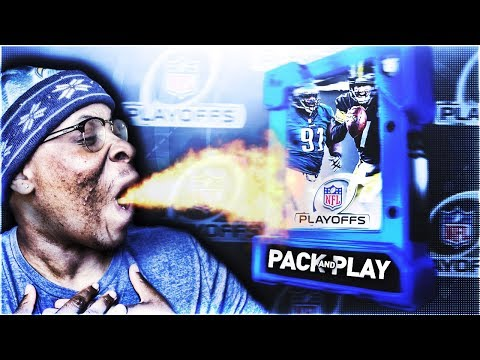 HILARIOUS 2018 NFL PLAYOFFS PACK AND PLAY SQUAD TEAM BUILDER! MADDEN 18 ULTIMATE TEAM
