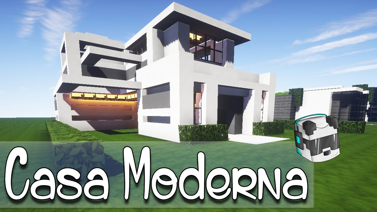Como hacer una linda casa moderna en minecraft youtube for Casas modernas minecraft keralis