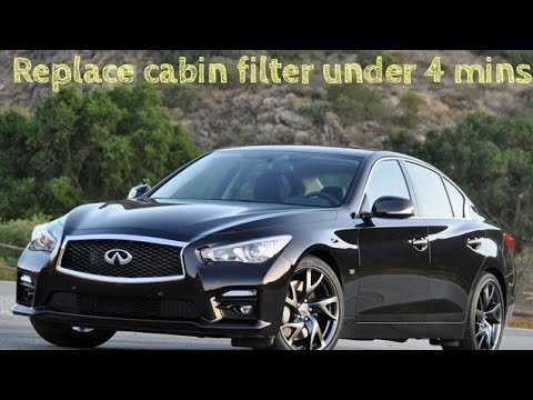 How to replace cabin filter 2015 Infiniti Q50