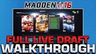 OFFICIAL Madden 16 Draft Champions Full Live Draft & Walkthrough | How Does Draft Champions Work