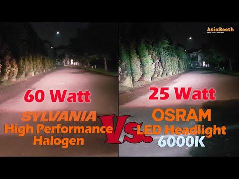 OSRAM LED Headlight vs. High Performance Halogen Bulb