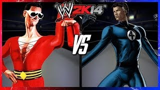 WWE 2K14 S2E1 - Plastic Man VS Mr. Fantastic (I Quit Match)