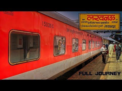 KANPUR To MUMBAI : Full Journey | AC FIRST CLASS | 22122 LKO-LTT AC Express : INDIAN RAILWAYS